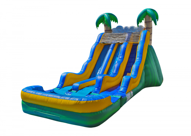 17' Tropical Water Slide