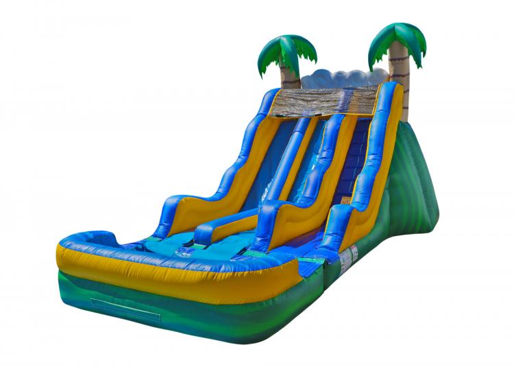 17' Tropical Water Slide